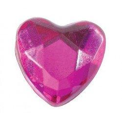 Coeurs diamant (x12) - Fuchsia