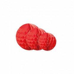Boules alvéolées (x3) - Rouge