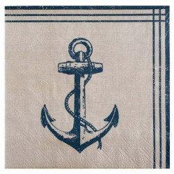 Serviettes bord de mer en papier (x20)