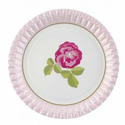 """Assiettes """"Rose Vintage"""" (x8)"""