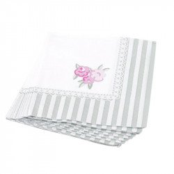 Serviettes cocktail Shabby fleuri (x20)