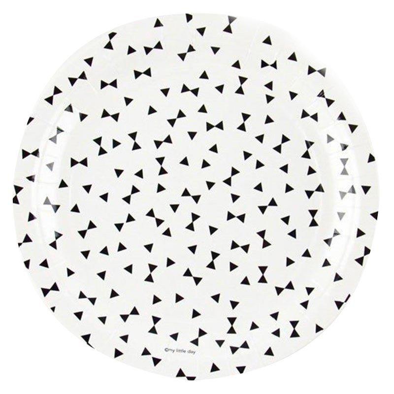 Assiettes Noeud Papillon  (x8)