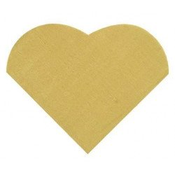 Serviettes cœur (x20) - Or
