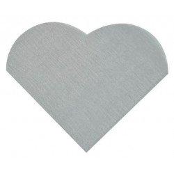 Serviettes forme cœur gris 12 cm (x20)