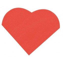 Serviettes cœur (x20) - Rouge