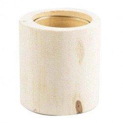 Photophore en bois brut