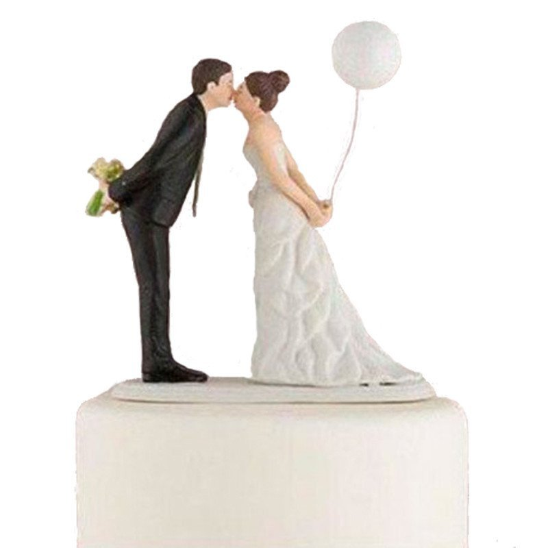 Figurine pièce montée mariés au ballon