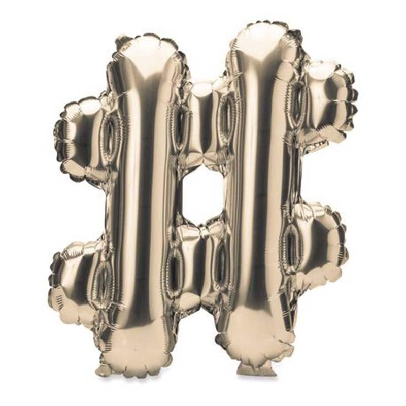 """Ballon metal - lettres  en """"Or"""" - 36cm"""