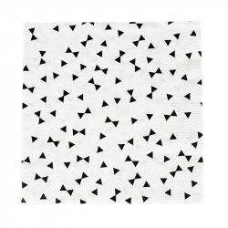 Serviettes Noeud papillon (x20)
