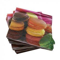 Serviette en papier macarons (x20)