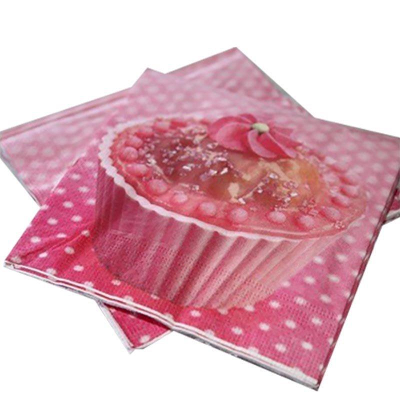 Serviette en papier cup cakes (x20)