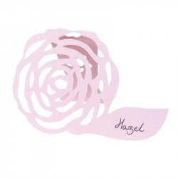Marque-places Shabby fleuri (x10) - Rose pastel