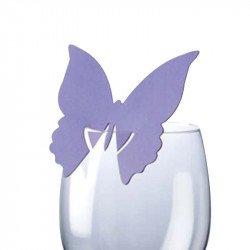 Marque-places Papillon (x10) - Lilas