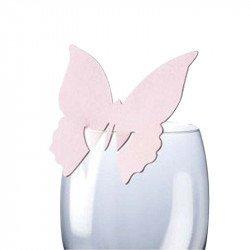 Marque-places Papillon (x10) - Rose pastel