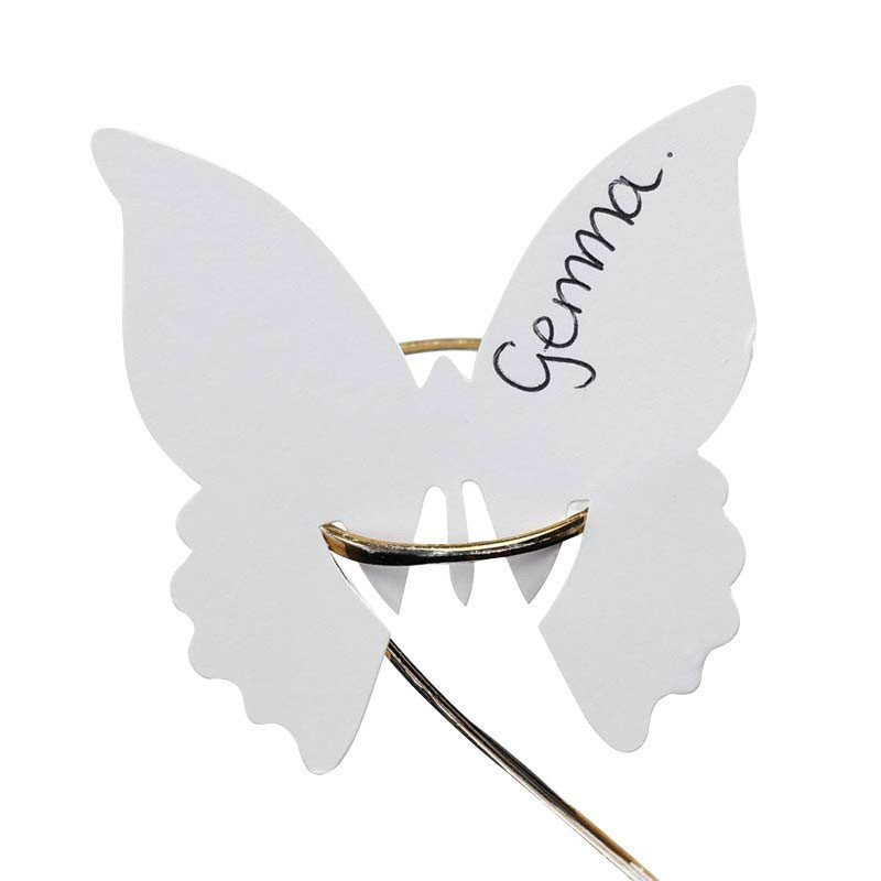 Marque place papillon blanc (x10)