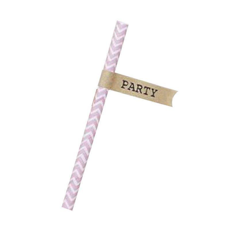 """Étiquettes """"Party"""" pour paille (x20)"""