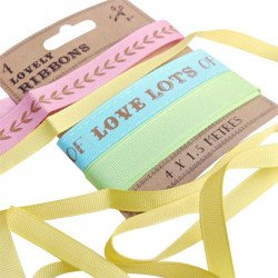 "Rubans ""Lovely"" multicolores - Beige"