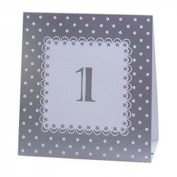 Numéros de table vintage de 1 à 12 - Argent