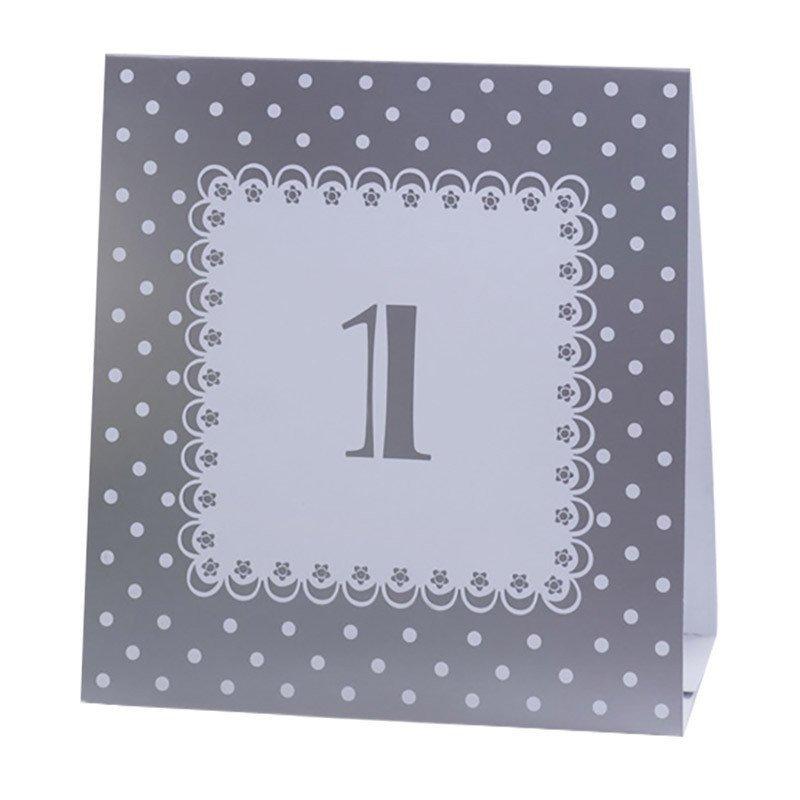 Numéros de table vintage argentde 1 à 12