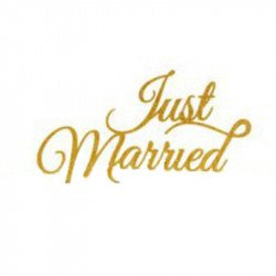 "Cake topper ""Just married"" or ou argent - Or"