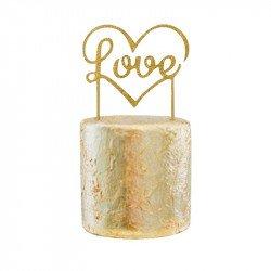 """Cake topper """"Love"""" Doré"""