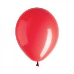 Ballons unis (x10) - Rouge