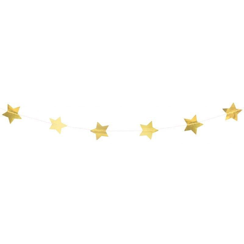 Guirlande glitter étoiles dorées