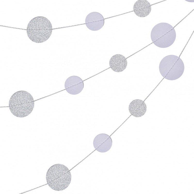 Guirlande confettis glitter argent