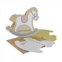 Invitations Mon petit cheval à bascule (x10)
