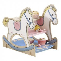Présentoir gâteaux Mon petit cheval à bascule