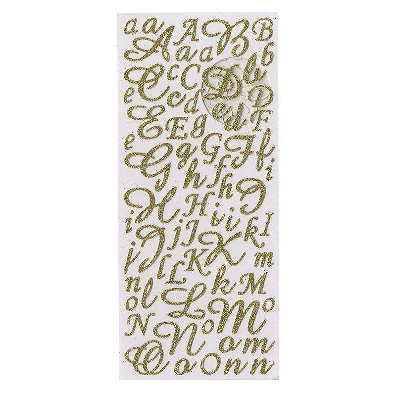 Stickers alphabet doré