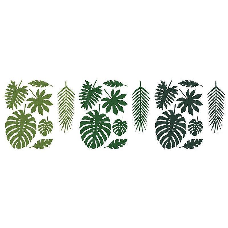 Mélange de feuilles tropicales (x21)