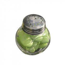 Petits pots rond en verre (x4)