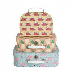 Lot de 3 Valises Tropicales
