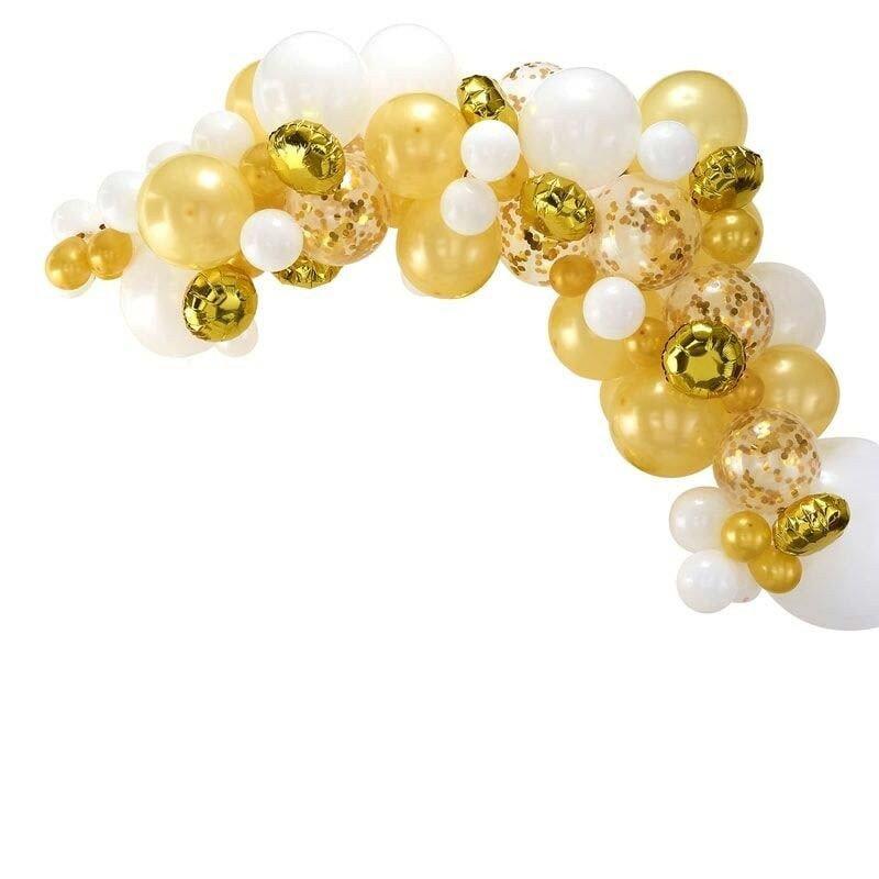 Arche de ballons doré