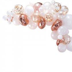 Arche de 70 ballons - Rose gold