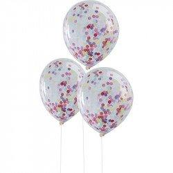 Ballons confettis (x5) - Multicolore