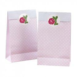 """Sachets à bonbons """"Rose Vintage"""" (x5)"""