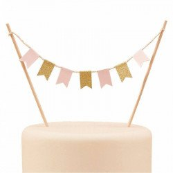 Décor de gâteau - Guirlande de drapeaux