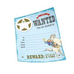 Invitations Cow Boy (x10)