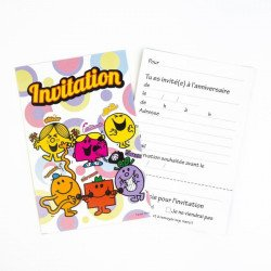 Invitations Monsieur Madame (x6)
