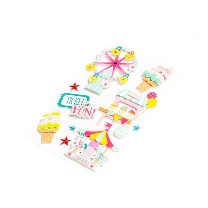 Stickers Cirques multicolores (x9)