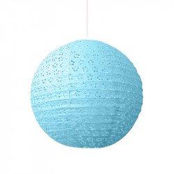 Lampion dentelle - 30 cm - Bleu ciel