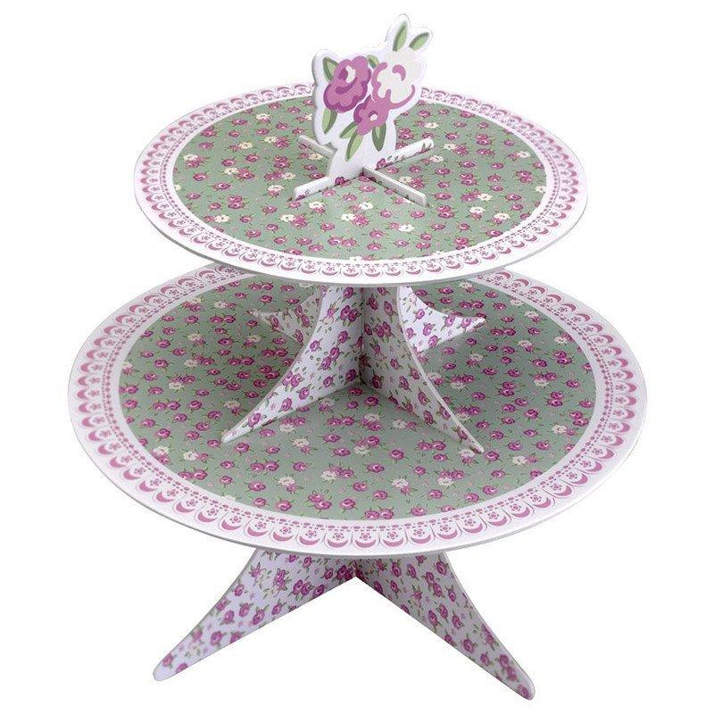 presentoir à cupcake vintage lilas