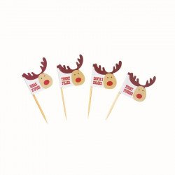 Drapeaux Rudolf le cerf Noël - (x20)