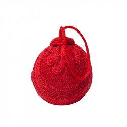 Boule en laine Noël - Rouge