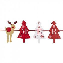 Banderole Noël Rudolf le cerf