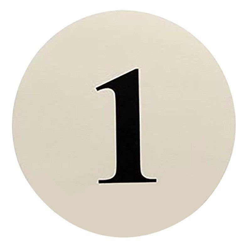 Numéros de table rond blanc de 1 à 12
