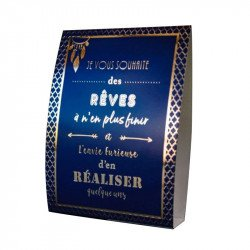 "5 cartons de table ""citations"" bleu nuit & or"
