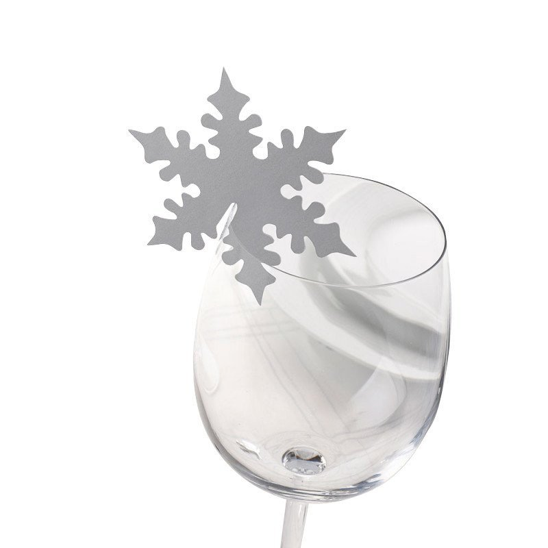 Marque place flocon sur verre - 10 unités